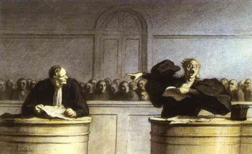 Honoré Daumier - Les gens de justice