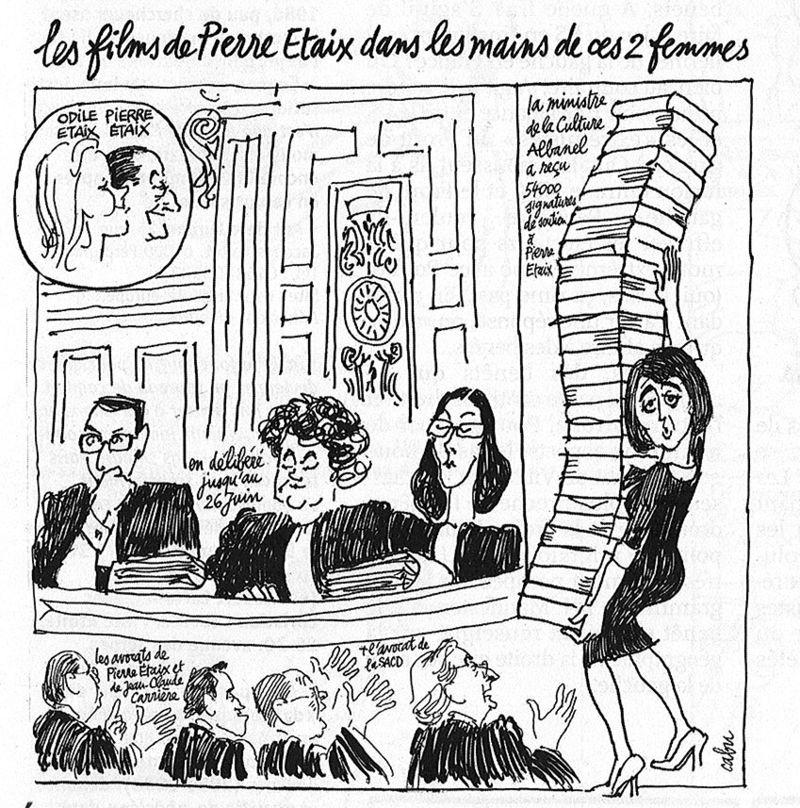 dessin de Cabu - audience TGI Paris du 15 mai 2009