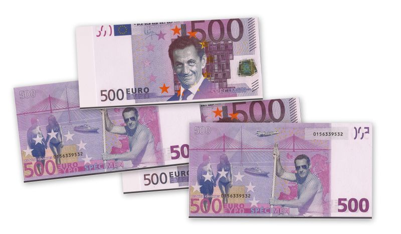 scan du billet 500 euros Président Zébulon (droits de reproduction libres)