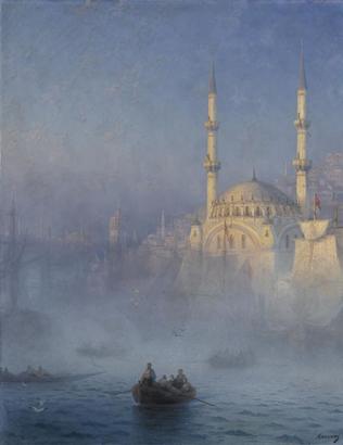 Vue du port de Constantinople - Ivan Aivazovskii (1817-1900) - Paris, musée du Louvre - (c) Photo RMN / Gérard Blot