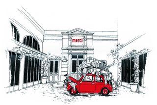 dessin de l'entrée du magasin
