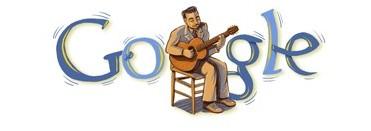 Aujourd'hui Samedi 23 Janvier 2010, Django Reinhardt aurait eu cent ans… Google lui rend hommage en affichant un Google Doodle en page d'accueil à l'effigie du créateur du Jazz manouche