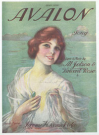 page de couverture de la partition, publiée en 1920 - song, music by Al Jolson, Buddy DeSylva, Vincent Rose