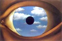 Magritte, The False Mirror, 1928