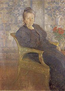 Portrait de Selma Lagerlöf par Carl Larsson en 1906