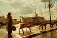 image de la publicité Chanel avec Audrey Tautou à Istanbul