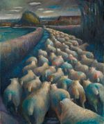 Sheep - from Lamb to Loom — peintures, expositions et album de Kate Lynch : www.katelynch.co.uk