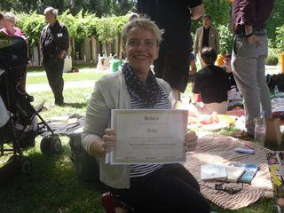 """en plus du beau diplome dont je suis très fière, j'ai gagné un album de Sempé, et """"Une Année studieuse"""" d'Anne Wiazemsky"""