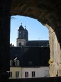 la photo est de moi ! Eglise Saint-Joseph vue par une échauguette du bastion des Dames, château fort de Sedan