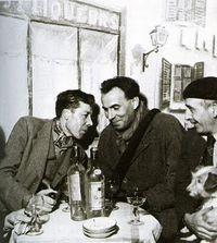 Gen Paul, Louis-Ferdinand Céline, Pierre Labric en 1942