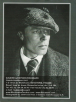 affiche de l'exposition Gen Paul à la Galerie Roussard, novembre 2012 - cliquer sur l'image pour agrandir