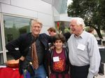 """14 year old boy genius Aaron Swartz flanked by internet pioneers Ted Nelson and Doug Engelbart"" — photo publiée sur le blog ""Shikhar Tech Lab""s"