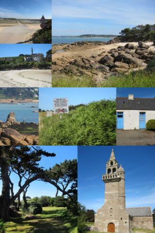 Ile Callot (Kalod, prononcer calotte) , juin 2014 - petite merveille d'île bretonne reliée au continent (Carantec, près Morlaix) à marée basse uniquement par une route submersible