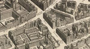 La rue Taranne sur le plan Turgot vers 1734 - source Wikipédia