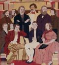 """tapisserie des """"Illustres"""" décorant le grand salon de l'Hôtel de Massa, siège depuis 1929 de la Société des Gens de Lettres"""