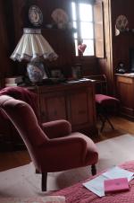 chambre, fauteuil, lit, valse